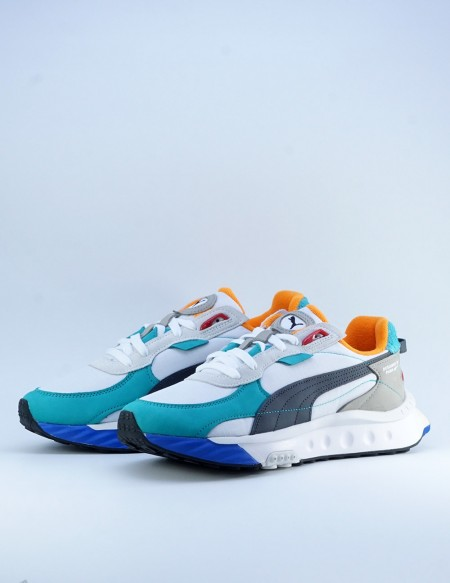 PUMA WILD RIDER LAYERS WHITE-VIRIDIAN GREEN