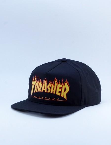 THRASHER FLAME SNAPBACK BLACK