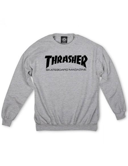 THRASHER SKATE MAG CREW GREY