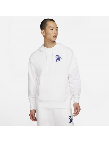 NIKE SPORTSWEAR WORD TOUR PULLOVER FRENCH TERRY WHITE/MULTI