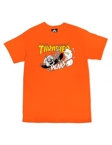 THRASHER 40 YERAS T-SHIRT ORANGE