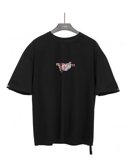 MOD WAVE MOVEMENTMW042020289B BLACK ROSE T-SHIRT