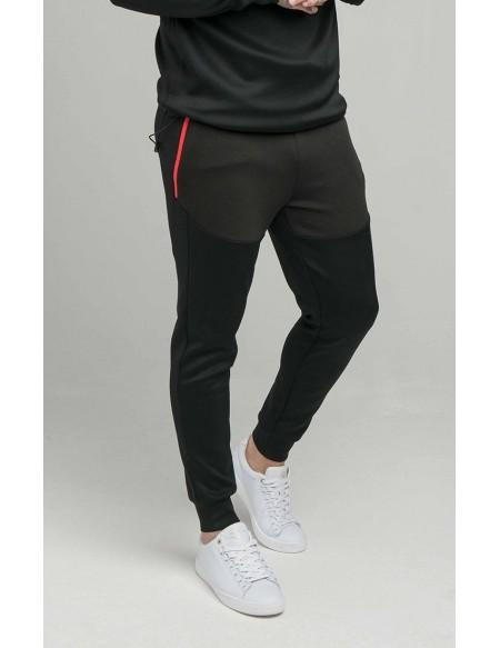 SIKSILK COVERT FUNCTION PANTS BLACK/RED
