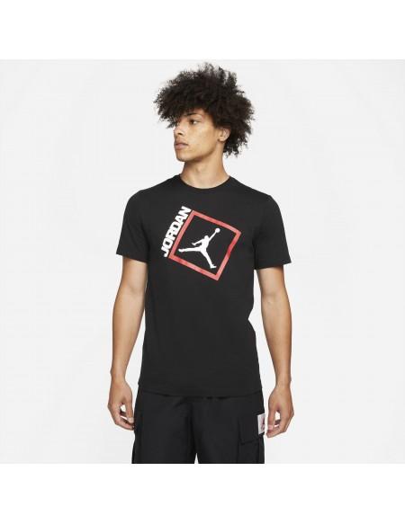 JORDAN  JUMPMAN BOX TEE BLACK/WHITE/GYM RED