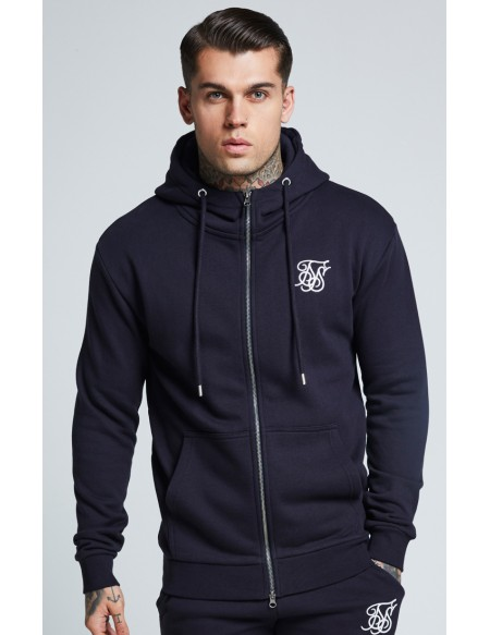 SIKSILK MUSCLE FIT ZIP THROUGH JACKET
