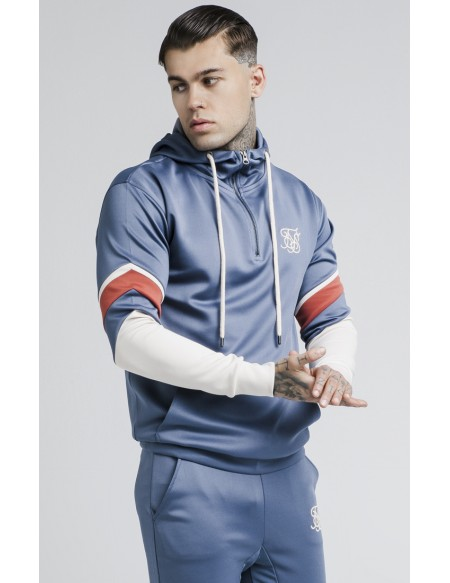 SIKSILK SPRINT QUARTER ZIP OVER HEAD HOODIE