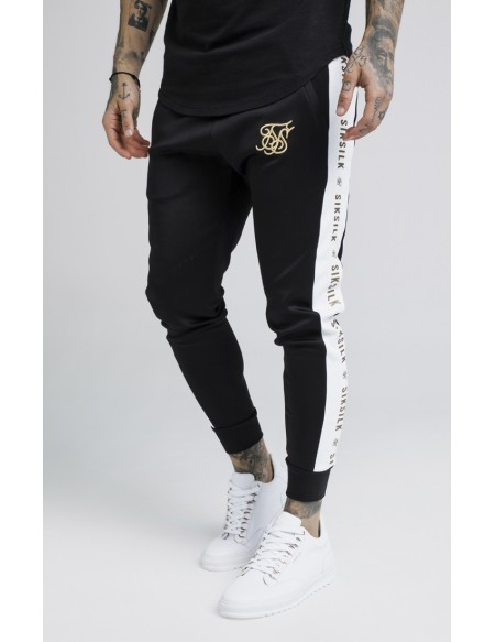 SIKSILK RACER CUFFED TAPED JOGGERS