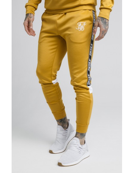 SIKSILK CUFFED CROPPED POLY TAPE PANTS