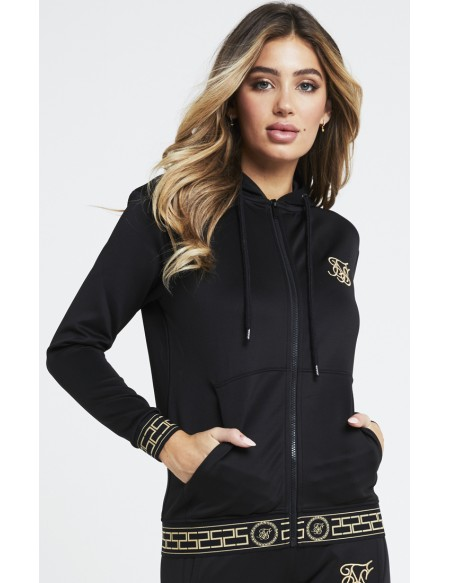SIKSILK ATHENA POLY ZIP THROUGH HOODIE