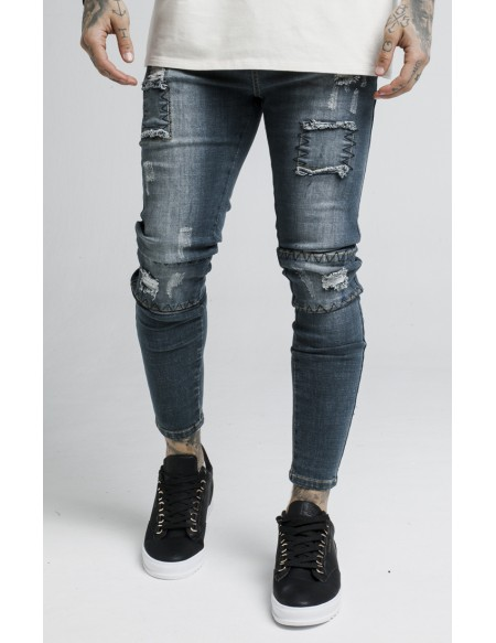 SIKSILK SALVAGED WASHED DENIMS